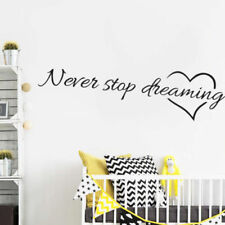 Never Stop Dreaming Wall Art Sticker Inspiration Quote Vinyl Decals Home Decor