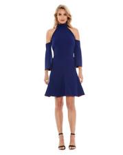 Yeojin Bae - Double Crepe Nadine Godet Dress | Blue | Size 12 | RRP: $590