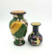 2 piccoli vasi in ceramica vintage stile albisola