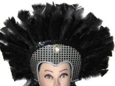 Vegas Showgirl Dancer Feathers + Sequins Headdress Hat Costume Accessory NEW