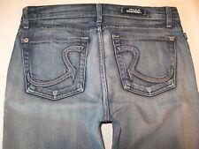 Rock & Republic Roth Jeans Low Flare Distressed Sz 30 -Run Big Sz 31 / 32 fit