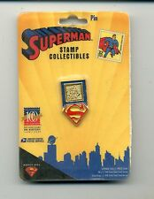 Superman Stamp Collectibles Pin    Original Package    1998