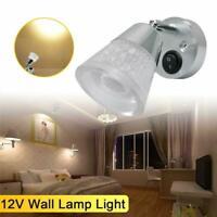 DC 12V 3W LED Reading Light RV Caravan Trailer Boat Wall Mount Bedside Book Lamp