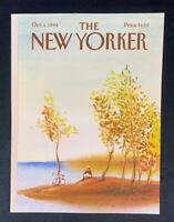 COVER ONLY ~ The New Yorker Magazine, October 1, 1984 ~ Paul Degen