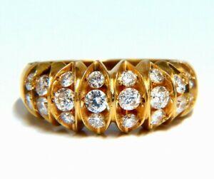 .85ct Natural Round Diamonds Watermelon Wedge Band 14kt Gold