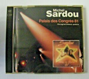 RARE DISQUE CD MICHEL SARDOU PALAIS DES CONGRES 81 PAS VINYLE 45 33 TOUR COMPACT