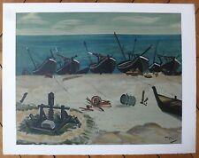 André Derain Lithographie sur velin d'Arches Mourlot Paris la mer la pêche Levy