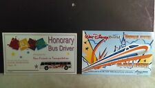 Disney Honorary Bus Driver License Buy One Get One Monorail License Free