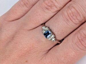 Sapphire & diamond ring #