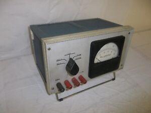 WESCHLER 10 MILLIAMPERES AMP METER AMMETER PANEL AC OHM RADIO TEST EQUIPMENT