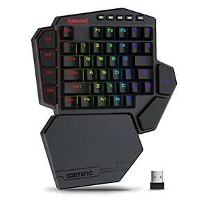 2.4GHz Wireless One-Handed 40% Gaming Keyboard 42Keys 7-Macro Keys Wrist Support