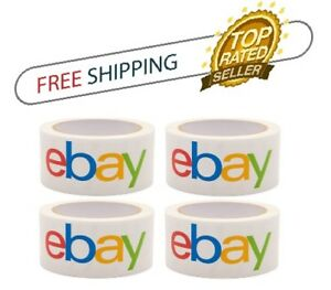 eBay Branded Official 2'' x 75 Yards Packaging shipping Tape pack of 4 rolls