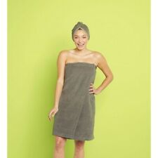Bath Body Wrap - Room Essentials - Terry Cloth Shower Wrap In Gray