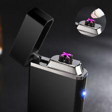 Electronic Plasma DOUBLE Arc Rechargeable USB Cigarette Lighter-Black-Tesla Coil