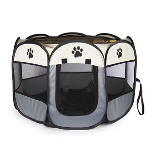 Portable Pet Playpen Pop Up Play Pen For Small Dogs, Puppies & Kittens Pukkr