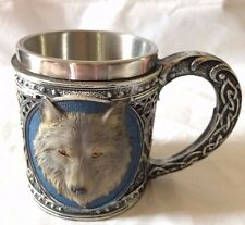 Perfect 3D Relief Wolf Stainless Steel Mug Coffee Cup Tea Mug  Gift New