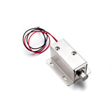 1x Electronic Lock Catch Door Gate DC12V 0.8A Electric Release Assembly Solenoid