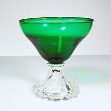 Green Glassware Dessert Collectible Round Dish Cup Bowl Kitchen Decoration