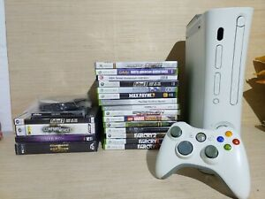 XBOX 360 HDD CONSOLE BUNDLE with Games and Controller !! No Cords !!