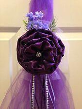 Set of 6 Plum Levander Pew Bows Chair Bows Aisle, wedding decor, Dark purple Bow