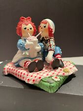 Danbury Mint 'Treat For Two' Raggedy Ann & Raggedy Andy 1999