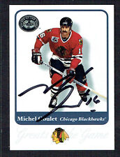 Michel Goulet #59 signed autograph 2001 Fleer Hockey Greats of the Game GOTG