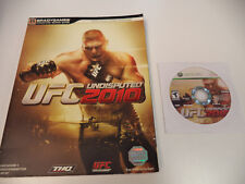 UFC Undisputed 2010  (Xbox 360, 2010) Game Disc & Strategy Guide