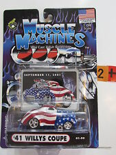 MUSCLE MACHINES  '41 WILLYS COUPE  SEPTEMBER 11, 2001 SCALE 1:64