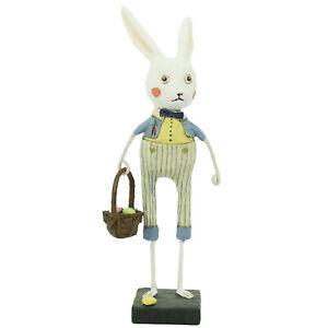 Lori Mitchell Bobby Bunny Figurine Easter Spring Rabbit Vintage Style Decor