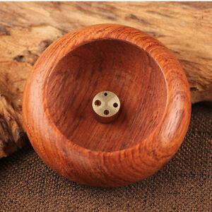 Wooden 4 Hole Bowl-shape Incense Burner Incense Holder for Home Decoration