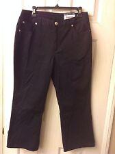 Women's Lands' End Black Twill Crop Pants: Size 6 (Retail $26)