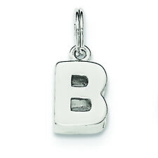.925 Sterling Silver Initial B Charm Pendant MSRP $34