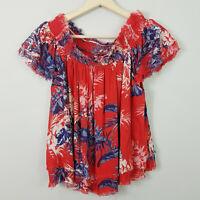 HIPPIE LAUNDRY   Womens Floral Print Blouse Top NEW [ Size L or AU 14 / US 10 ]