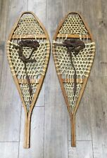 Pair Of Vintage Wooden Snowshoes