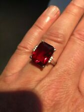 Rose Ruby & Diamond Cocktail Ring Women Engagement also have Large Plus Size