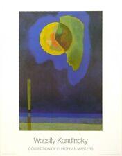 WASSILY KANDINSKY - Gelber Kreis - Abstract Art Print 1987 Poster 27.5x35.5