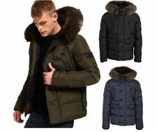 SuperDry Men's Chinook Jacket Hooded Coat Zip Coat Green, Navy and Black