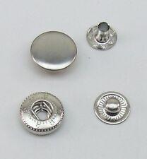 10  Druckknöpfe Druckknopf  15mm silber WUK 06.25