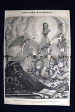 Amilcare Ponchielli - 16 gennaio 1886 - L'angelo dell'Armonia Incisione del 1886