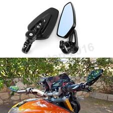 Black Handle Bar End Rear View Side Mirrors For Ducati Hypermotard 1100 796 939