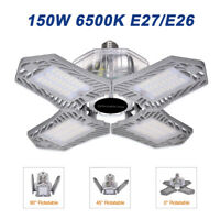 150Watts LED Garage Light Deformable Adjustable Cool White High Bay Work Lamp US