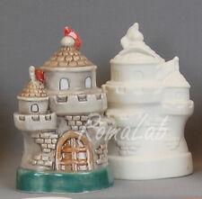 Statuina in ceramica biscotto bianco castello salvadanaio da dipingere decorare