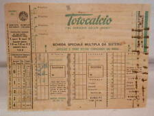Vecchia schedina TOTOCALCIO Concorso colonna Scheda speciale multipla da sistema