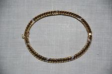 18 K YG Bangle-Bracelet with 42 Round Full Cut Diamonds total 18.2 dwt
