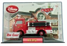 Disney Store Cars 1 Red  Die Cast Car In Collector's Case