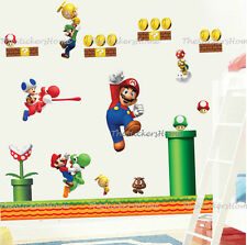 Large Super Mario Wall Decal Stickers Children Kids Bedroom Vinyl Home Decor Art