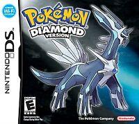 Pokemon: Diamond Version (Nintendo DS, 2007, COMPLETE w/ Case & Manual)