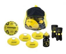 Kickmaster M06019 Backpack Training Set 4 Cones Shin Pads Drinks Bottle and Ball