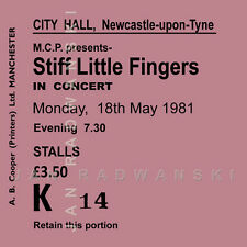 Stiff Little Fingers Concert Coasters Ticket May 1981 Quality Coaster
