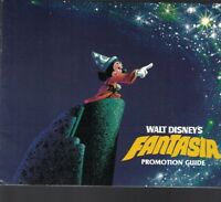 Walt Disney's Fantasia Promotion Guide Booklet 1980s Mickey Mouse